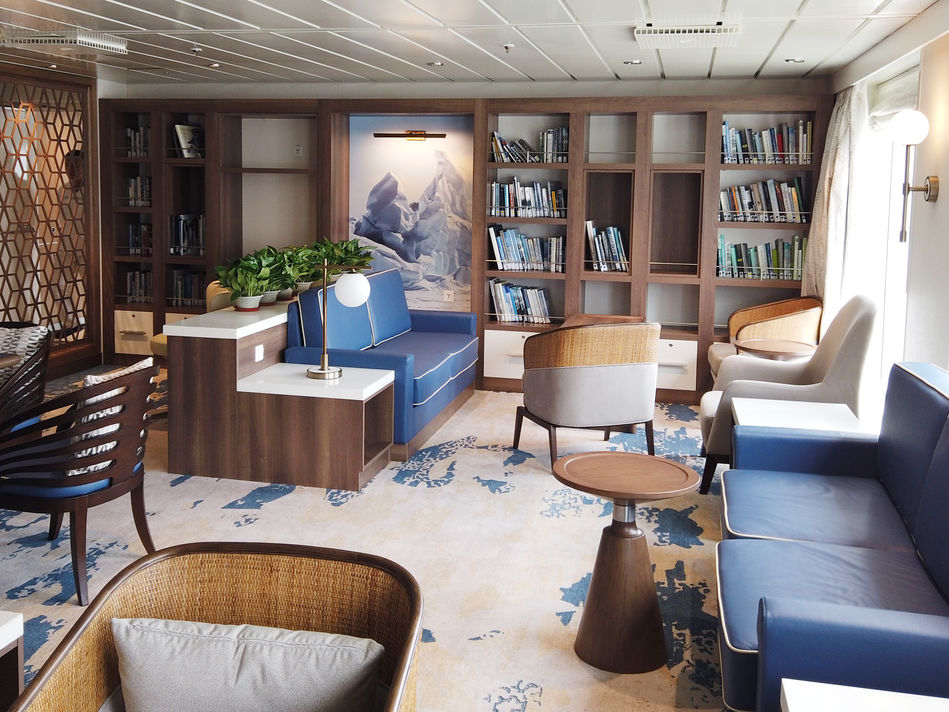Library and Multi Media Room, Greg Mortimer, Aurora Expeditions