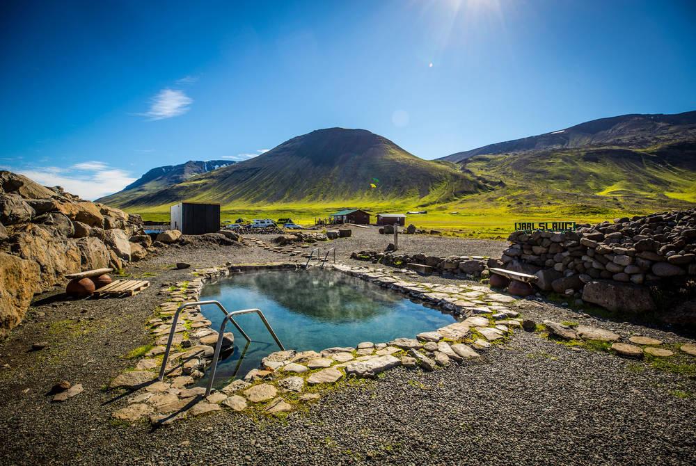Grettislaug geothermal pool