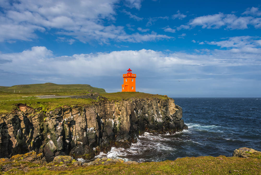 Sightseeing flight to Grímsey Island