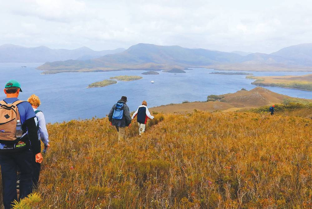 Guided walk, Port Davey, © Coral Expeditions