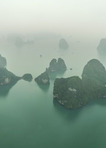 Ha Long Bay scenic view by Plane, Vietnam
