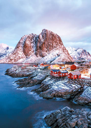 Hamnoy and Lilandstinden mountain peak, Lofoten Islands