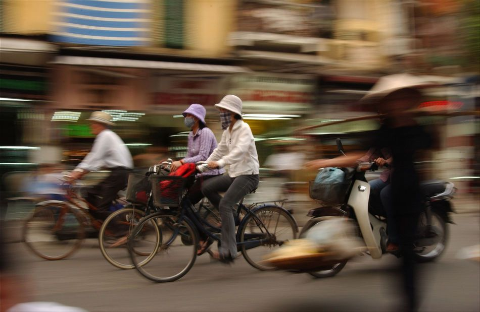Bicycles and mopeds in Hanoi