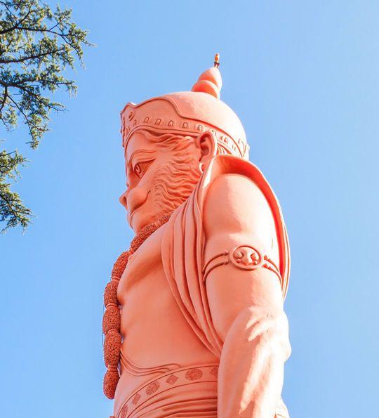Hanuman statue near Jakhoo Temple, Shimla