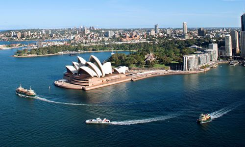 Harbor and Opera House, Sydney, Australia