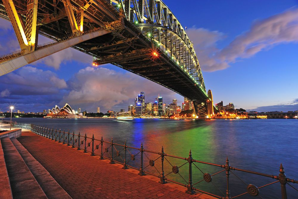 Harbour Bridge at night, Sydney, New South Wales, Australia