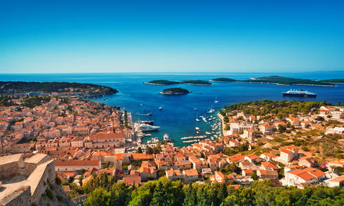 Harbour, Hvar, Croatia