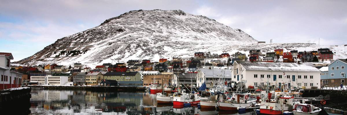 Harbour at Honningsvåg, Norway
