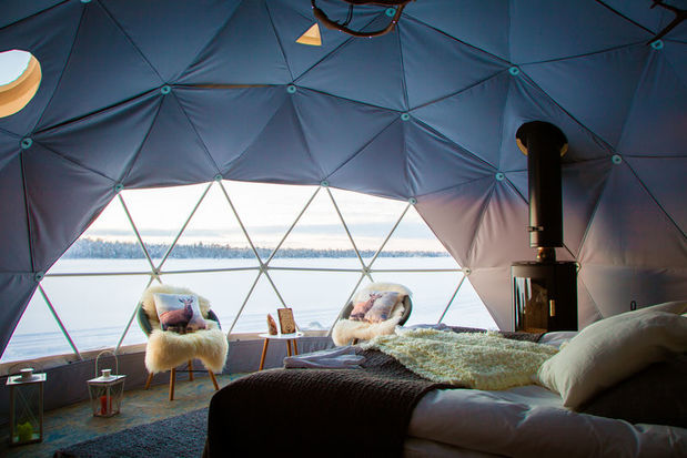 Harriniva Hotel Glass Igloo Aurora Domes in Lapland Finland