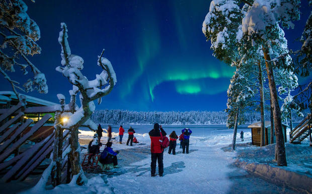 Northern Lights over Harriniva, Finnish Lapland