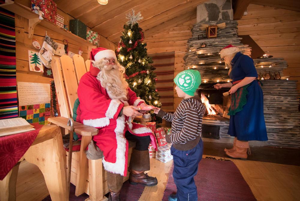 Meeting Santa in Harrivina, Finnish Lapland
