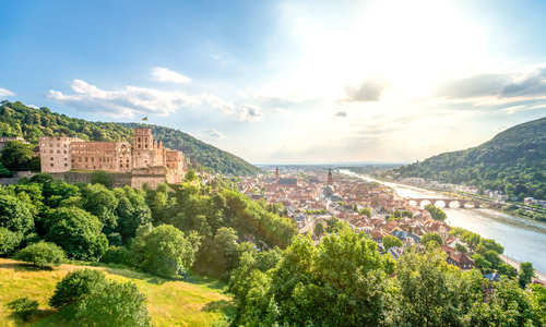 Heidelberg, the Rhine, Germany