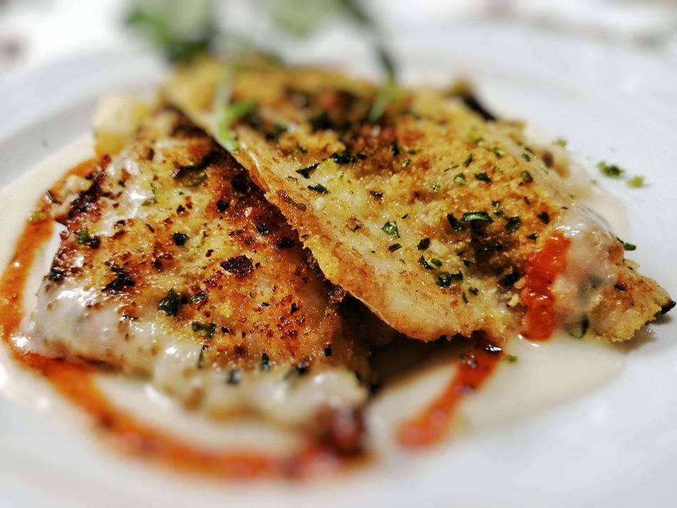 Herb Crusted Sea Bass, Sea Spirit, Poseidon Expeditions