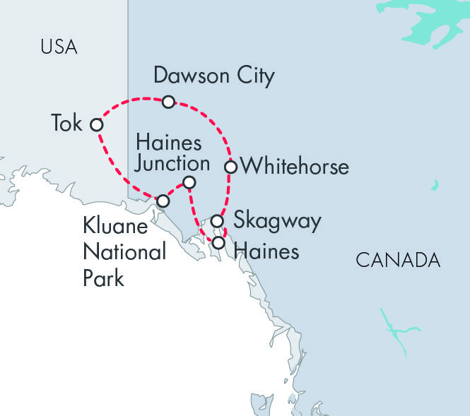 Highlights of the Yukon map