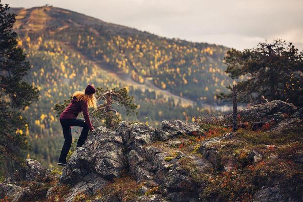 Autumn hiking near Levi, Finnish Lapland
