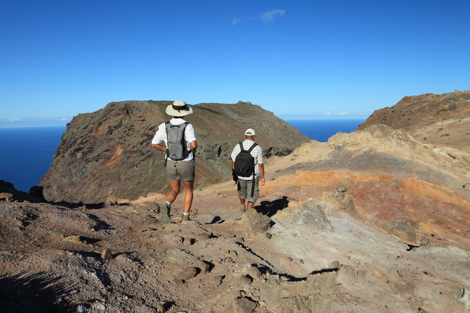 Hiking on St Helena with amazing sea views
