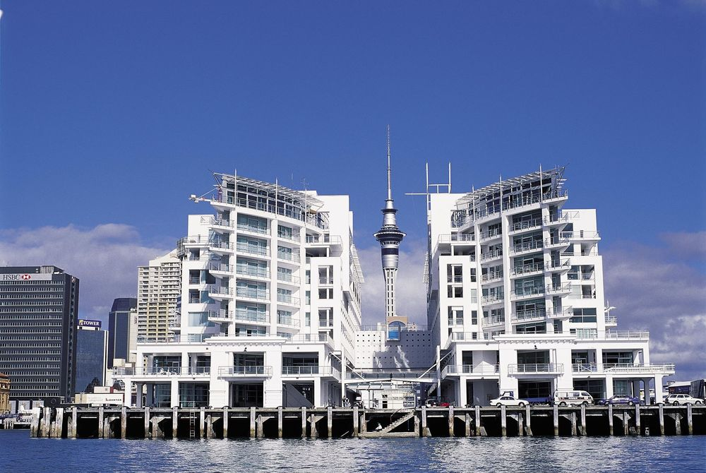 Hilton Auckland exterior, New Zealand