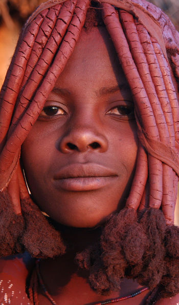 A Himba tribeswoman, northern Namibia