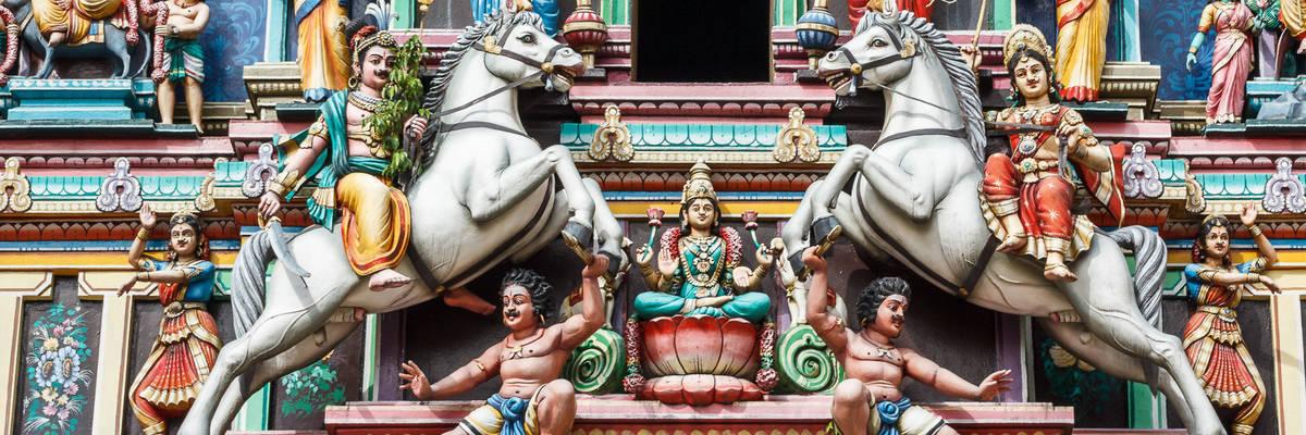Hindu temple in Kuala Lumpur, Malaysia