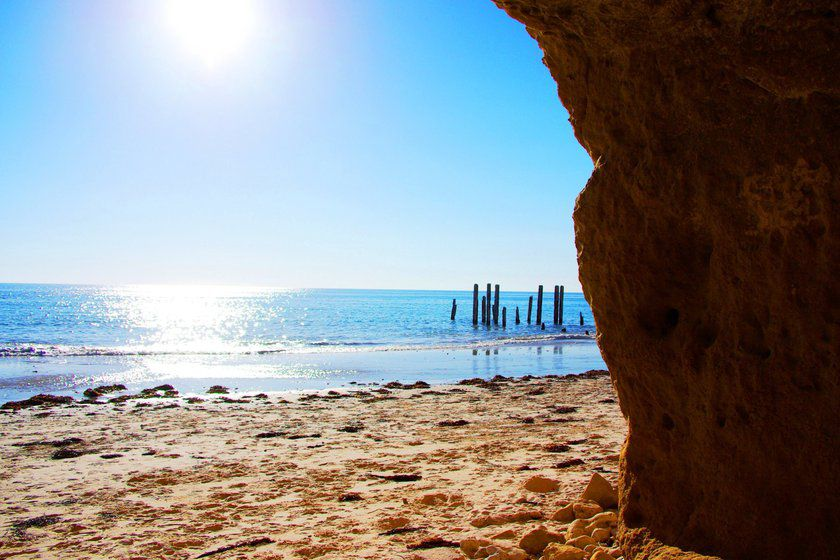 Historic ruined jetty, Port Willunga