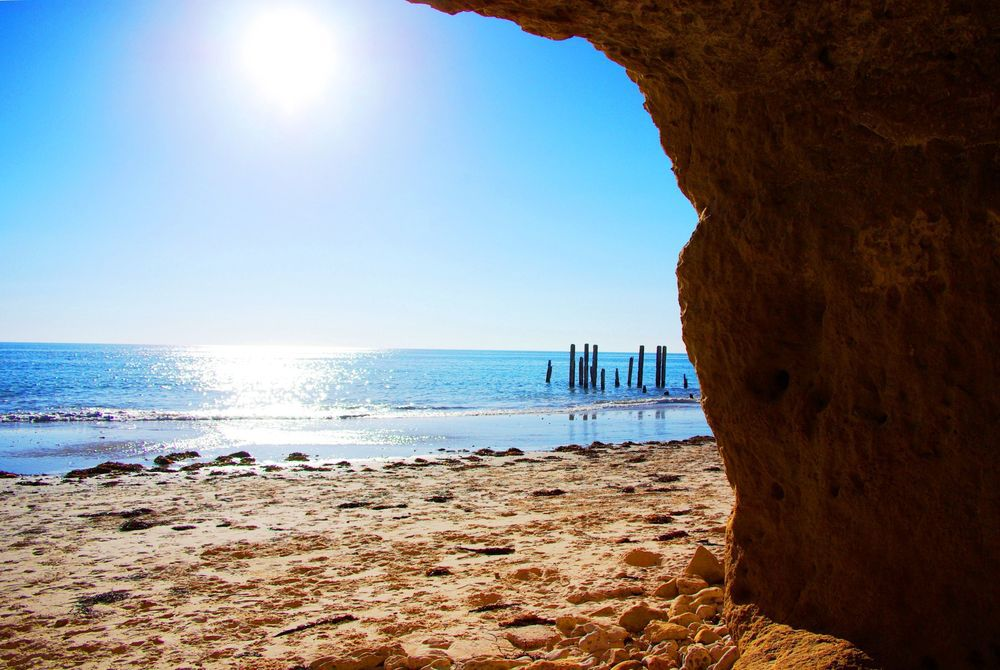 Historic ruined jetty, Port Willunga, Adelaide, Australia