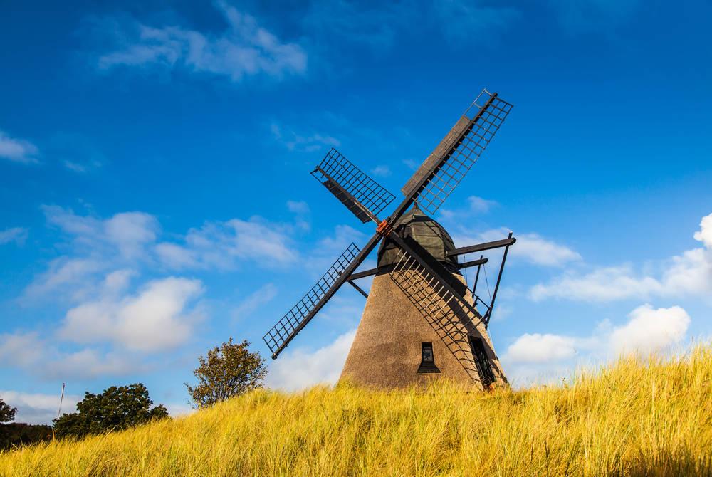 Historic windmill near Skagen