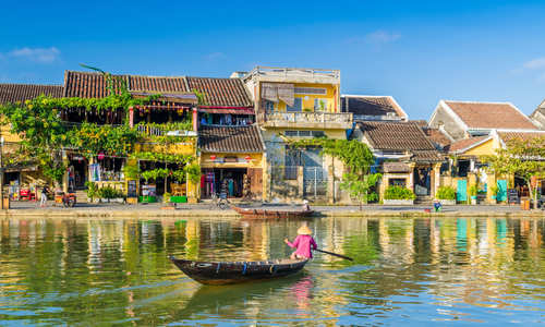 Boat on the water at Hoi An, Vietnam
