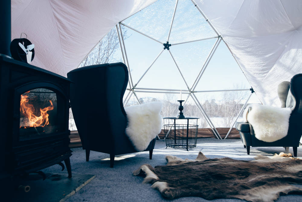 Igloo at Holmen Husky Lodge (Credit: Michael Kaak)