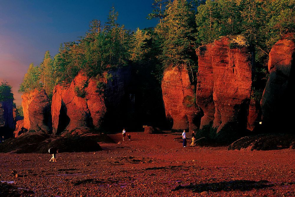 Hopewell Rocks Panorama, New Brunswick