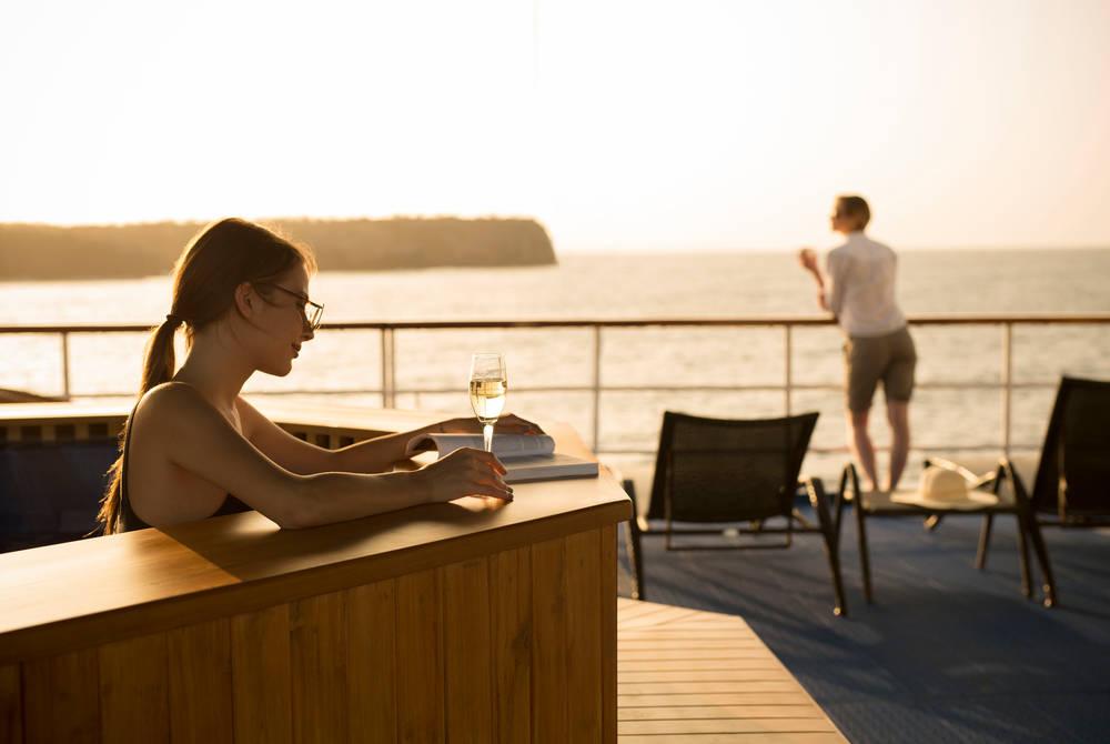 Hot tub, Isabela II Yacht, Galapagos