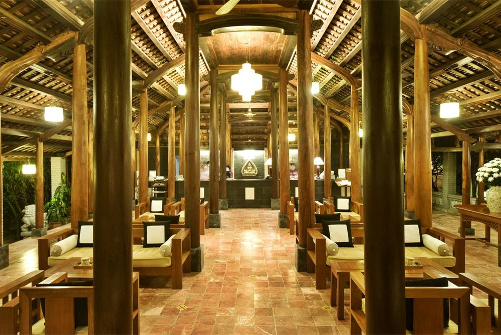 Hotel lobby, Pilgrmiage Village, Hue, Vietnam