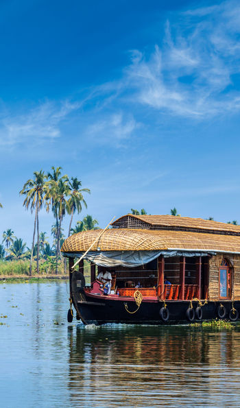 A houseboat on Kerala's Backwaters