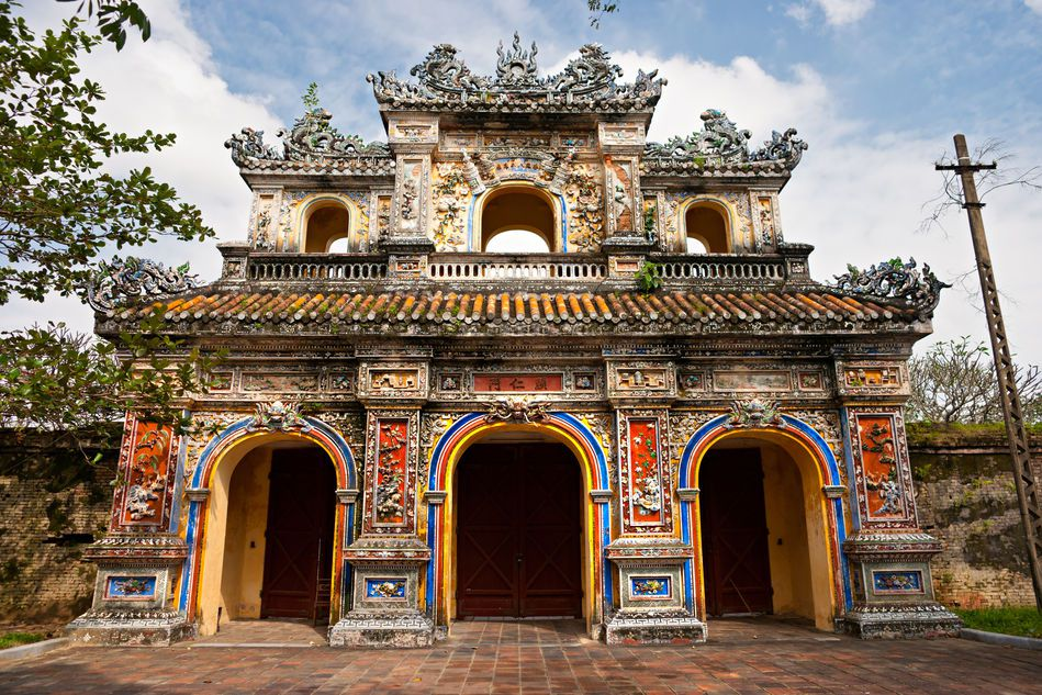 Imperial Palace architecture in Hue