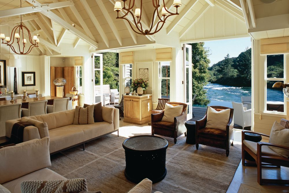 Huka Lodge owner's cottage, New Zealand