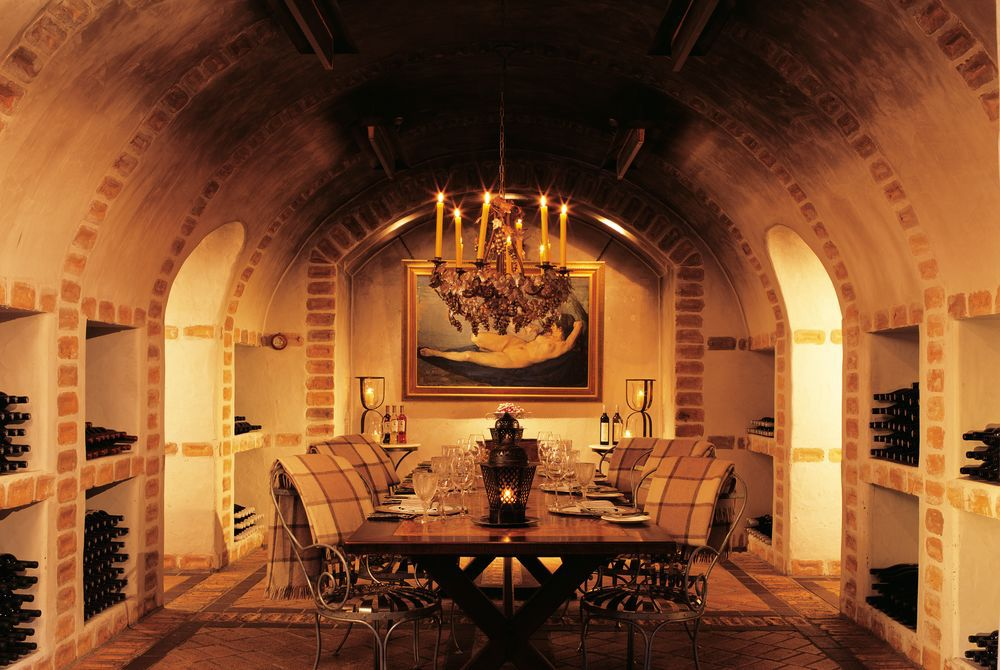 Huka Lodge wine cellar, New Zealand