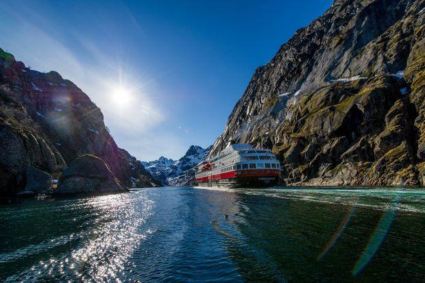 Hurtigruten Ship in Northern Norway