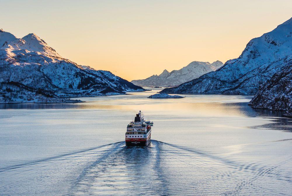 Hurtigruten Ship, Lofoten Islands, Norway