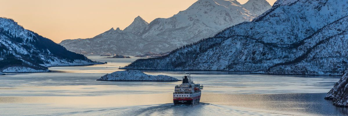 Hurtigruten Ship, Lofoten Islands