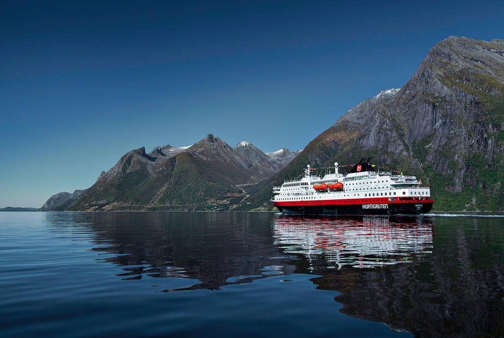 Hurtigruten Ship, the Lofoten Islands