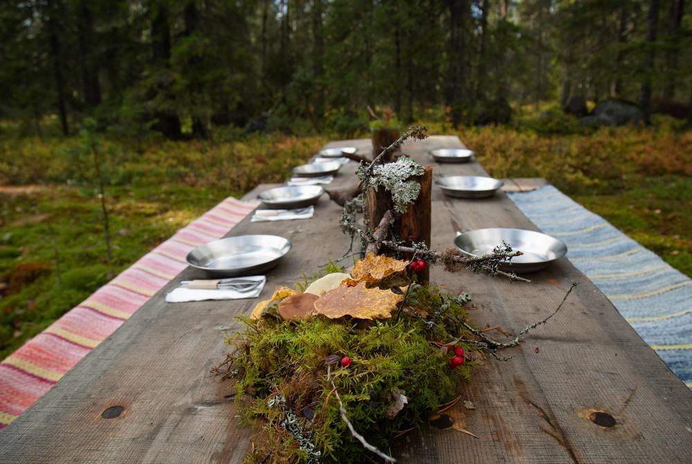Outdoor dining experience, Liehittäjä, Swedish Lapland