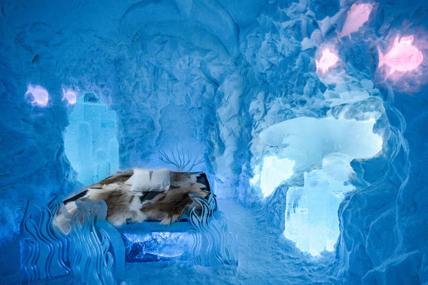 Suite at the ICEHOTEL – one of the best hotels in Lapland