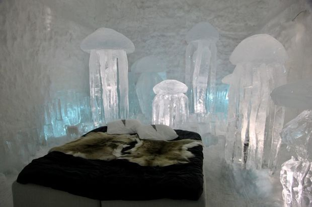An Art Suite at the ICEHOTEL 365 in Swedish Lapland