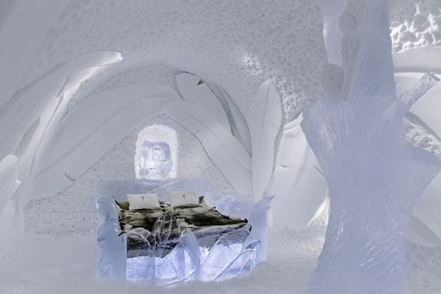 One of the 2016-2017 snow-based art suites at the ICEHOTEL
