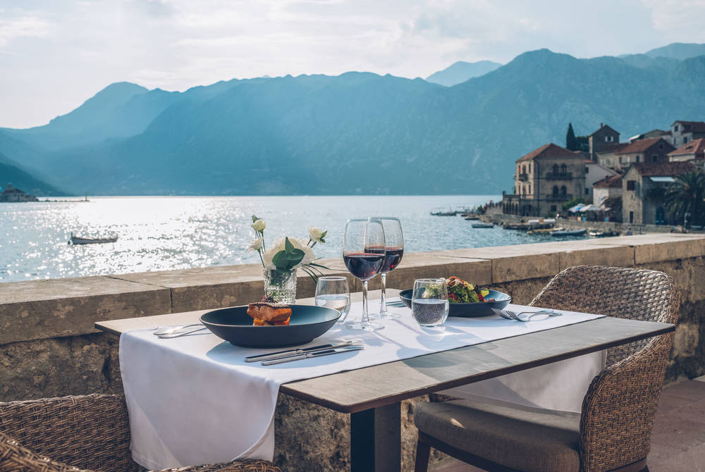 Outdoor dining, Iberostar Perast, Montenegro