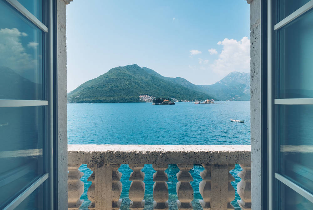 View from restaurant, Iberostar Perast, Montenegro