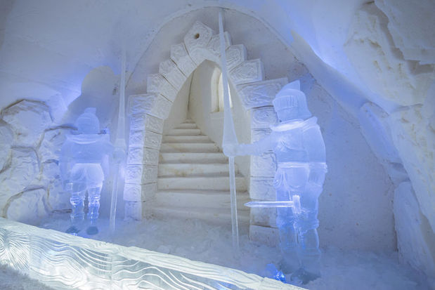 Ice Warriors 2016 room at Kemi SnowCastle