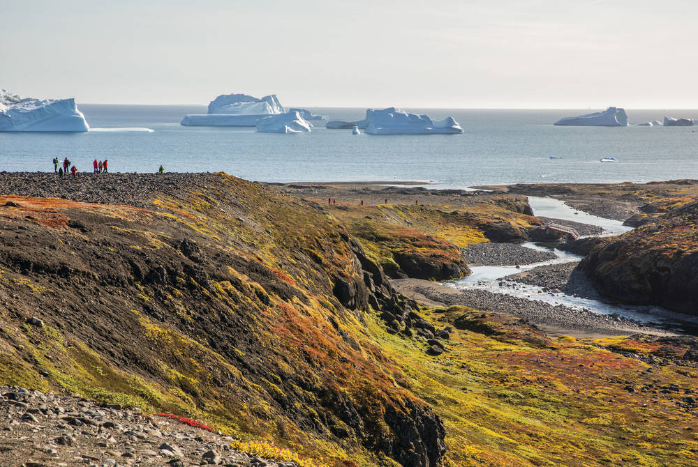 Icebergs off the Greenland coast