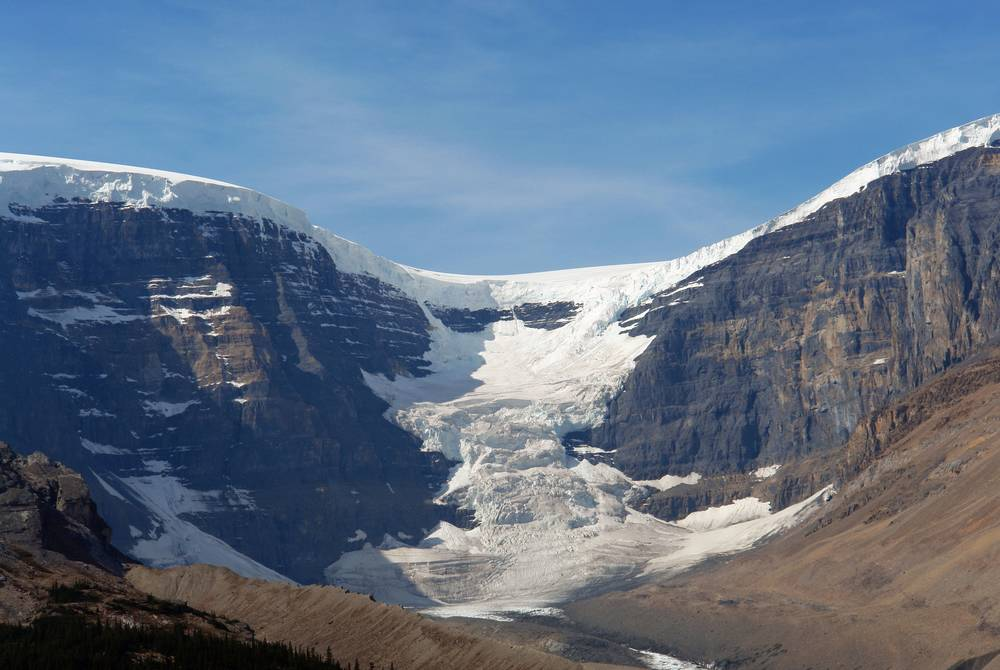 Icefield, Athabasca Glacier in Jasper National Park