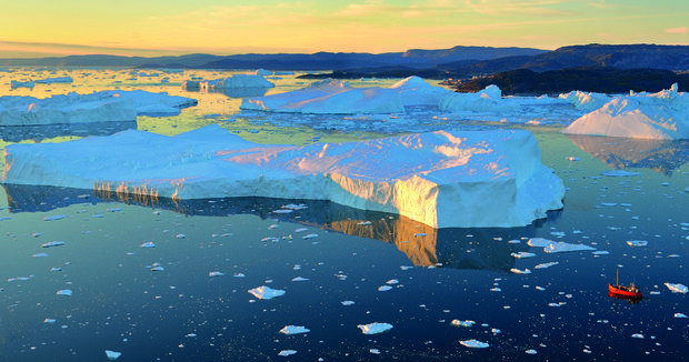Icefjord of Ilulissat in Greenland