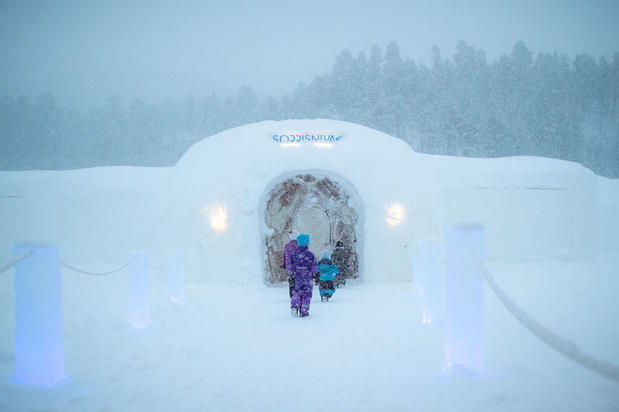 The Sorrisniva Igloo Hotel (ice hotel) in Norway